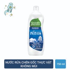 Nước rửa chén gốc thực vật Seventh Generation Free and Clear không mùi – 750mL – Không mùi, không chất tẩy rửa và hóa học độc hại
