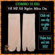 COMBO 10 đôi Vớ Nữ Xỏ Ngón Màu Da – Vớ Da Chân sáng chất vải thun tốt cho các bạn nữ