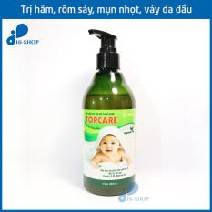 Sữa tắm gội trẻ em thảo dược TOPCARE 280ml – Kháng khuẩn, chống hăm, rôm sảy, mụn nhọt