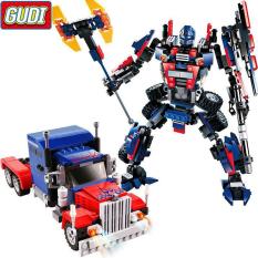 Đồ Chơi Lắp Ráp Kiểu LEGO Robot Biến Hình Optimus Prime Transformers 377 Mảnh Ghép