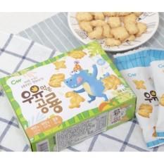 Bánh quy sữa khủng long Hàn Quốc – Bánh ăn dặm cho bé 6 tháng. Hộp 60g (Date 2021)