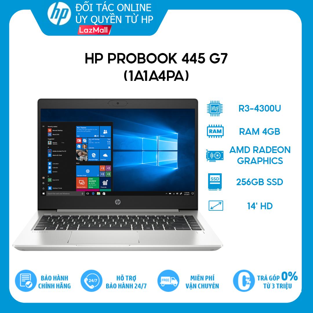 [VOUCHER 1.5 TRIỆU] Laptop HP ProBook 445 G7 1A1A4PA R3-4300U | 4GB | 256GB | AMD Radeon Graphics | 14′ HD | Win 10