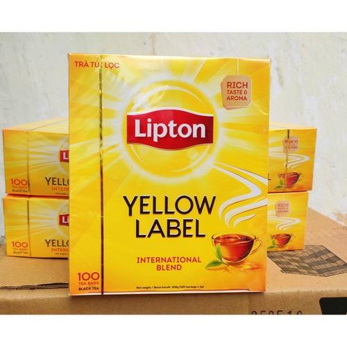 Trà lipton nhãn vàng hộp 100 gói