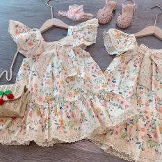 HÀNG HÈ 2020 ❤️ Váy bé gái cánh tiên nơ ren siêu xinh cho bé 10-20KG