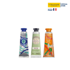 Bộ 3 tuýp kem dưỡng tay L'Occitane Hand Cream Set 10ml/tuýp