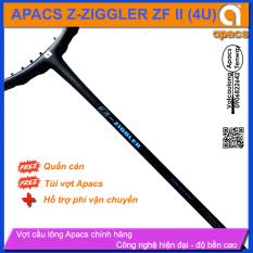 [Vợt cầu lông Apacs Z-Ziggler ZFII – 4U] Vợt thân đũa 6.4mm chống cản gió, sơn nhám vân xanh dạ sáng