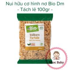 Nui hình nơ hữu cơ DM bio Gói 500gram – Lẻ 100gram