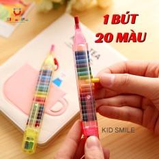 [Nhập NEWSELLERW502 giảm 50% tối đa 20K]1 BÚT 20 MÀU bút sáp màu thông minh đầy đủ màu trên 1 bút tiện lợi, đáng yêu, dễ cất giữ và mang đi, đồ chơi cho trẻ em từ 3 tuổi trở lên