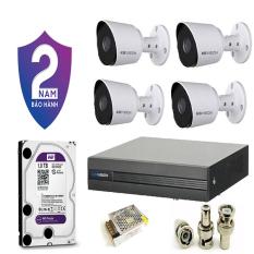 [Giá cực sốc] Trọn bộ 4 camera giám sát KBVISION Full HD 1080P – Tặng kèm 60m dây liền nguồn – Bảo hành 2 năm