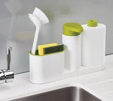 Bộ nhả xà phòng, nước rửa chén bát kèm khay để đồ rửa bát