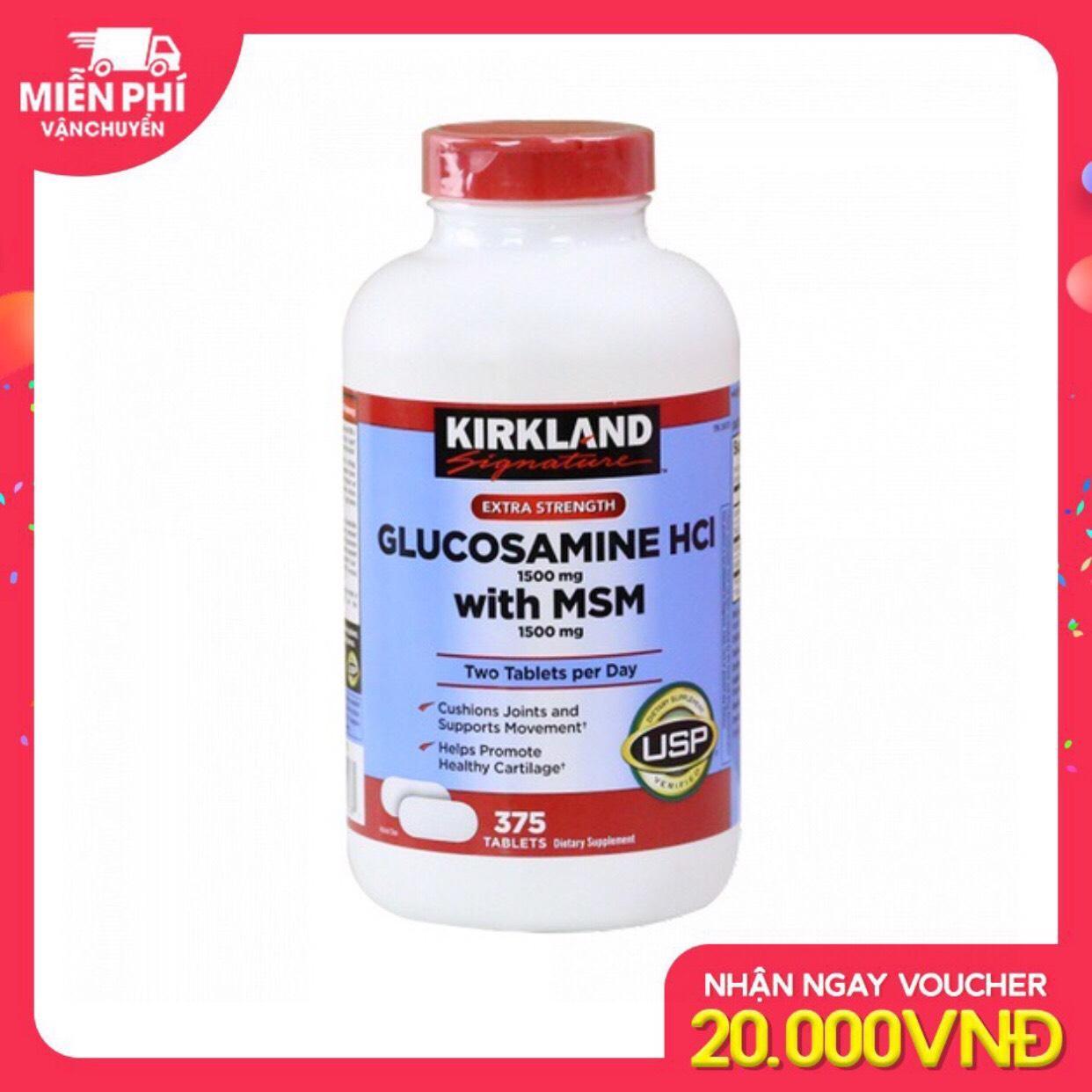 VIÊN UỐNG BỔ XƯƠNG KHỚP KIRKLAND GLUCOSAMINE HLC 1500MG