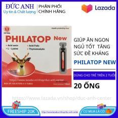 Philatop New hộp 20 ống nhựa ăn ngon ngủ tốt tăng sức đề kháng dành cho trẻ trên 2 tuổi – đức anh center