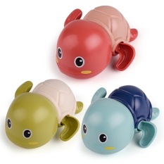 Rùa Bơi đồ chơi vặn cót biết bơi trong nước siêu dễ thương dùng cho bé chơi trong nhà tắm bể bơi mini kích thích bé cưng đi tắm an toàn cho trẻ em – Xanh Lá Cây