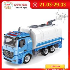 Đồ chơi lắp ghép xe tải vệ sinh KAVY phun được nước có ánh sáng và âm thanh, mô hình lắp ráp xe, giúp bé phát triển thực hành