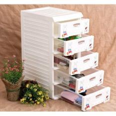 Tủ nhựa mini 5 tầng Song Long (tủ đựng đồ trang điểm)