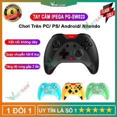 PG-SW023 IPEGA Bộ Điều Khiển Trò Chơi Bluetooth -Tay Cầm Chơi Game Sáu Trục Rung Không Dây Dành Cho Bảng Điều Khiển N-S/P3/Android/PC (Win7/8/10) Màu Đen