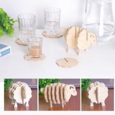 Bộ 6 đế Lót ly bằng gỗ hình con Cừu
