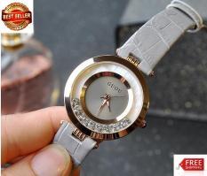 Đồng hồ Guou nữ dây da đính hạt xoay vòng 8039