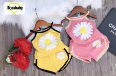 SÉT 2 ĐỒ BỘ cho bé gái hoa cúc mùa hè, áo 2 dây siêu xinh cho bé 6-24kg.