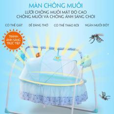 [XẢ KHO] Nôi điện thông minh tự động ru ngủ cho bé kích thước siêu to, Điều khiển từ xa, nôi điện tự rung cho em bé, nôi điện tự ru ngủ cho em bé MANIC HOUSE