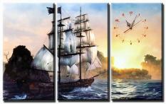 Tranh treo tường – Thuận buồm xuôi gió 02 – Tranh Minh Hiền ( 3 TRANH GHÉP)