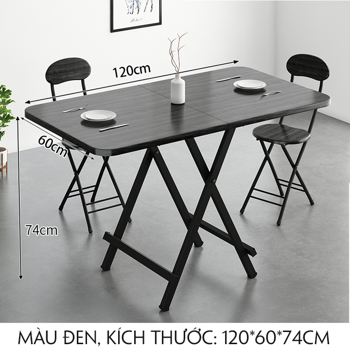 Bàn ăn gấp gọn 120*60*74cm – M032-2