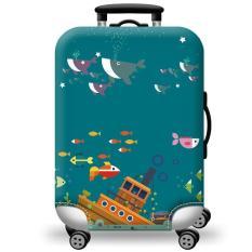 [Lấy mã giảm thêm 30%]Túi bọc bảo vệ vali -Áo vỏ bọc vali – Chuột Hoạt Hình H110 Size S M L XL HPValiOEM