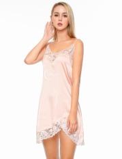 Dreamy VS10 – Váy ngủ lụa cao cấp dáng suông phối ren ngực quyến rũ có 3 màu đỏ, đen và hồng pastel
