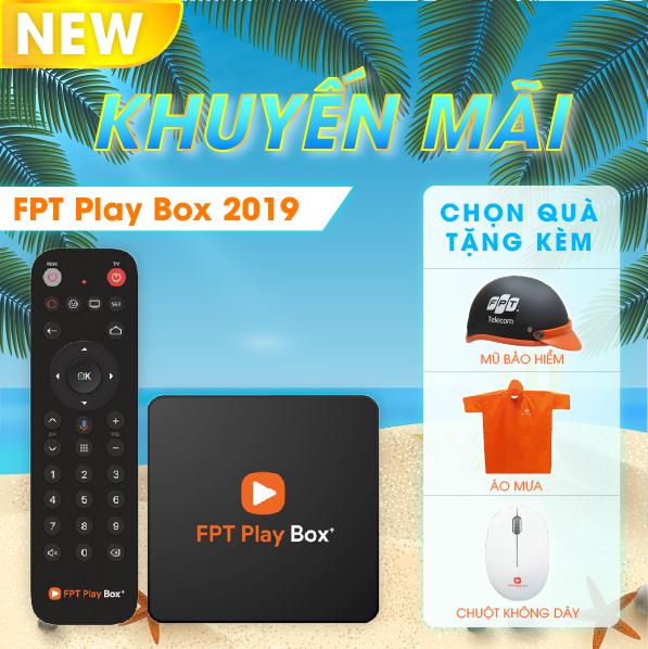 FPT PLAY BOX 2019 – Android TV + 4K Model S400 Có Điều Khiển Tìm Kiếm Giọng Nói + Quà tặng trị giá 400K