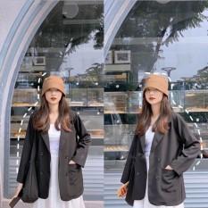 [Lấy mã giảm thêm 30%]Áo khoác vest blazer nữ phong cách hàn quốc 2 túi dán chất cao cấp
