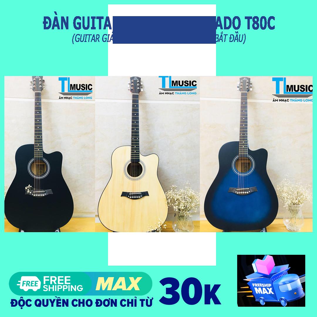 [Guitar giá rẻ] Đàn ghita Acoustic Tokado T80C – Acoustic guitar Tokado T-80C ( Kèm Bao đựng và pick gảy )