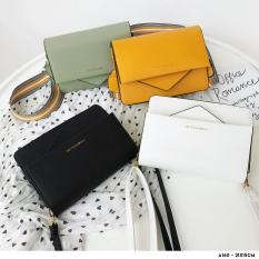 [HÀNG MỚI VỀ] Túi xách da nữ thiết kế cách điệu hình lá thư kèm dây đeo phối màu hiện đại-A160