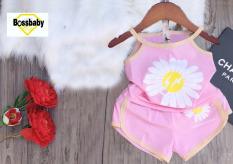 BỘ ĐỒ mùa hè cho bé gái hoa cúc, áo 2 dây siêu xinh cho bé 6-24kg.