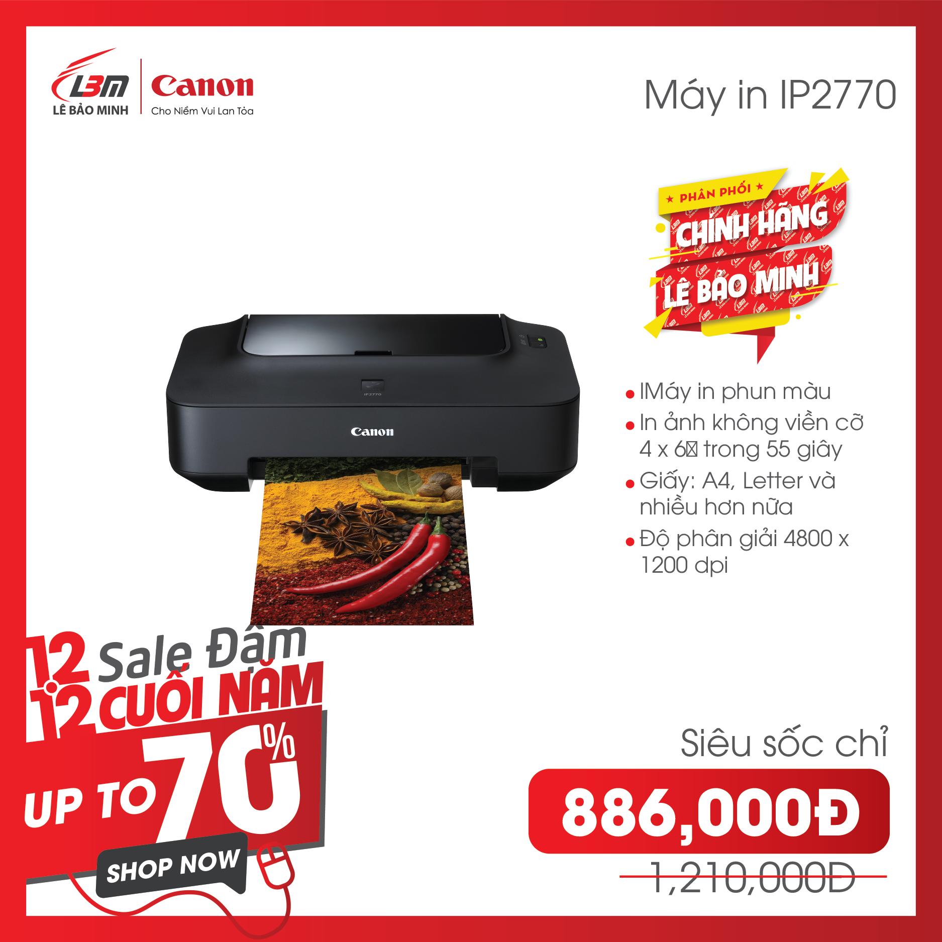 Máy in phun Pixma IP2770 – Hàng chính hãng Lê Bảo Minh