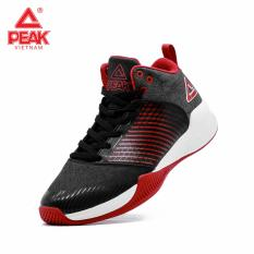 Giày bóng rổ PEAK Rising Star MID E74997A – Đen Đỏ