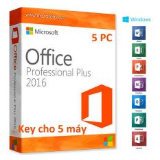Office 2016 Pro Plus – Key cho 5 máy