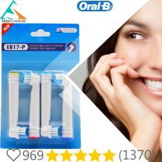 Bộ 4 Đầu Bàn Chải Đánh Răng thay thế cho máy Oral – B