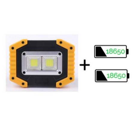 Đèn LED COB sạc 2 chiều làm việc công trình dã ngoại 4 pin AA / 2×18650 – Không gồm pin