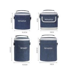 Túi giữ nhiệt cho hộp cơm văn phòng màu Jean siêu dày chống thấm