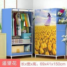 Tủ Vải 3D 1 Buồng, 2 Ngăn – Gọn Nhẹ – Chắc Chắn, Tủ Nhựa, Tủ Quần Áo, Tủ Vải