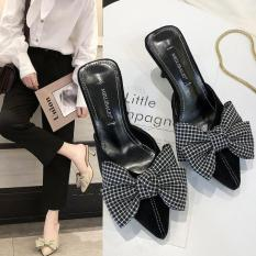 FS04- Giày cao gót da lộn nữ