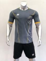 Bộ quần áo thể thao bóng đá Tự Thiết Kế BU ZINAS màu XÁM cao cấp