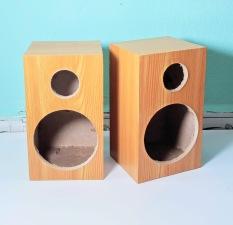 Vỏ thùng loa 10cm vân gỗ vàng 1 cặp. VA1