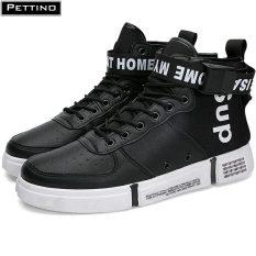 Giày cao cổ nam, giay nam thể thao, sneaker nam, giày nam buộc dây thời trang thoáng khí PETTINO – LLTC01