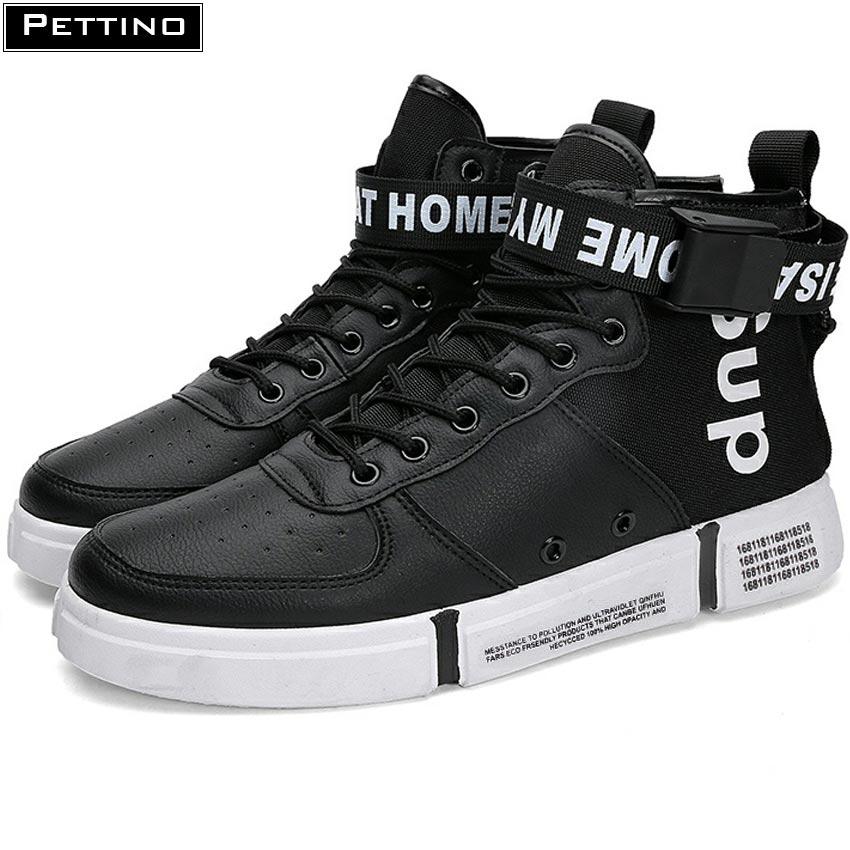 Giày cao cổ nam, giay nam thể thao, sneaker nam, giày nam buộc dây thời trang thoáng khí PETTINO -...