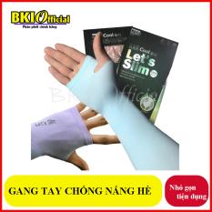 Găng tay chống nắng xỏ ngón Aqua-X Hàn Quốc – Bao tay đi phượt Letslim Siêu Mát chống tia UV