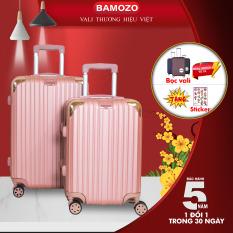 Vali du lịch BAMOZO 8801/8809 nhựa cao cấp – Bảo hành 5 năm