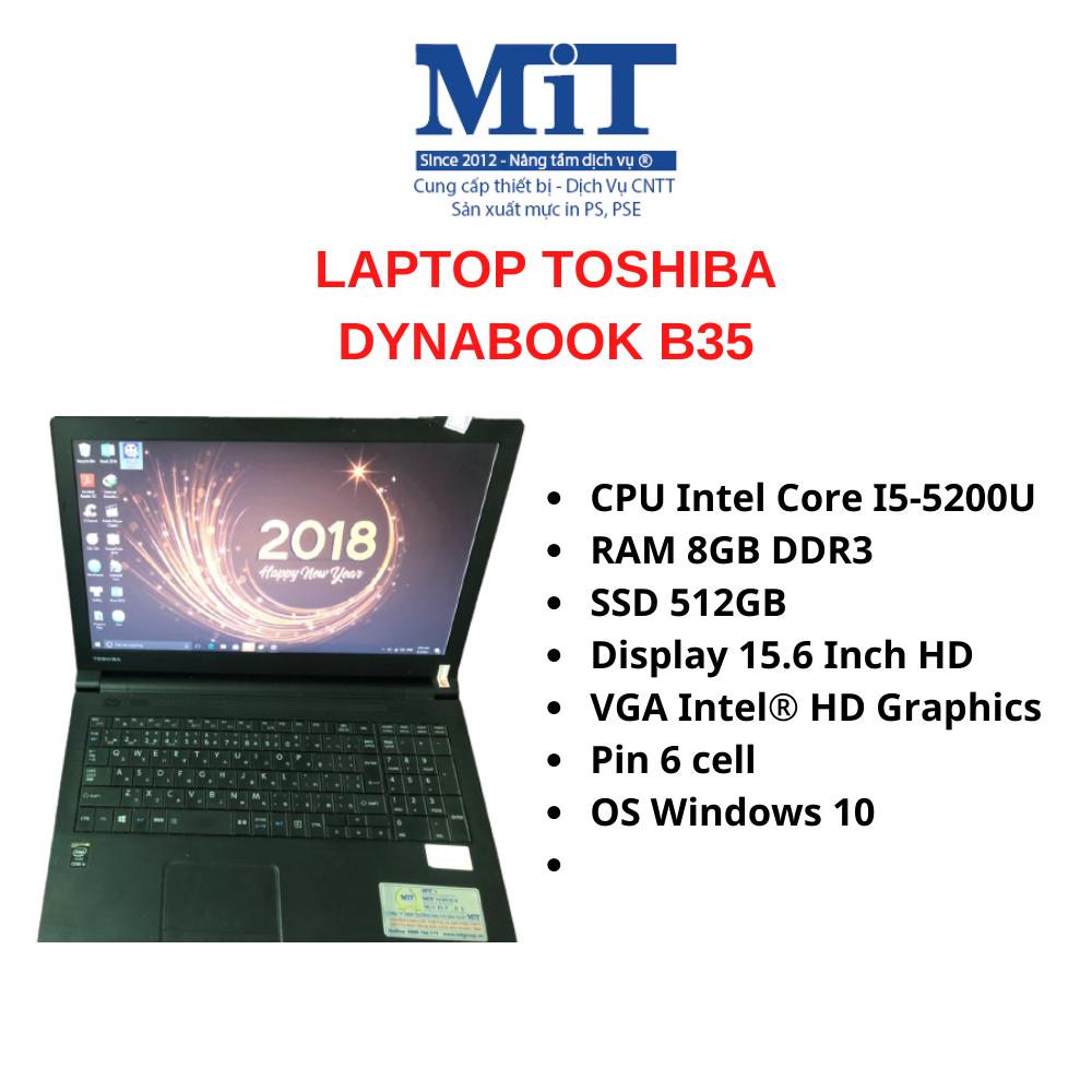 LAPTOP TOSHIBA DYNABOOK B35/R – CORE I5-5200U / RAM 8GB / SSD 512GB / 15.6″