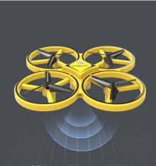 [ SIÊU BẤT NGỜ ] Đồ Chơi Điện Tử Thông Minh-Máy Bay Điều Khiển Từ Xa Drone Y01 Hồng Ngoại Tiên Tiến-Cảm Ứng Bảo Vệ Va Chạm- Máy Bay Cảm Ứng Điều Khiển Nhào Lộn 360 Độ,Điều Khiển Cảm Giác Tay-Giúp Cân Bằng Chính Xác Độ Cao