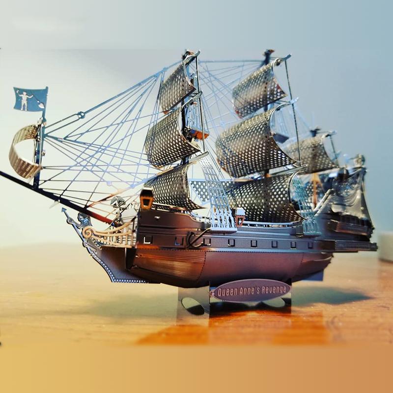 Mô Hình 3D Kim Loại Lắp Ráp Tàu Queen Anne Revenge [Chưa Lắp]